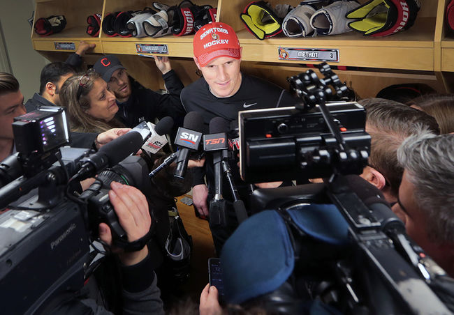 Dion Phaneuf having trouble adjusting to reasonable media coverage in Ottawa