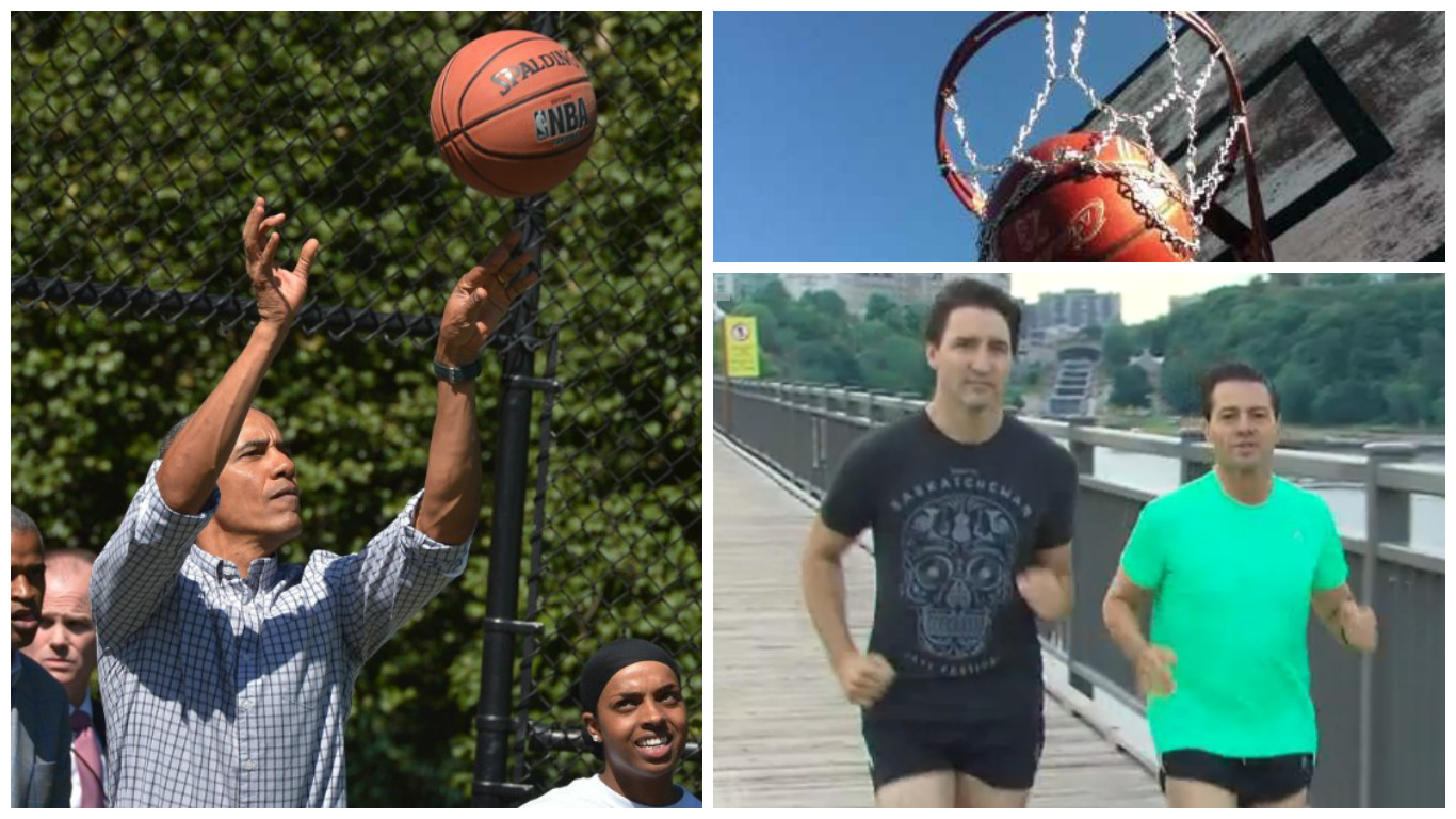 Trudeau Challenges Obama to One-on-One Basketball